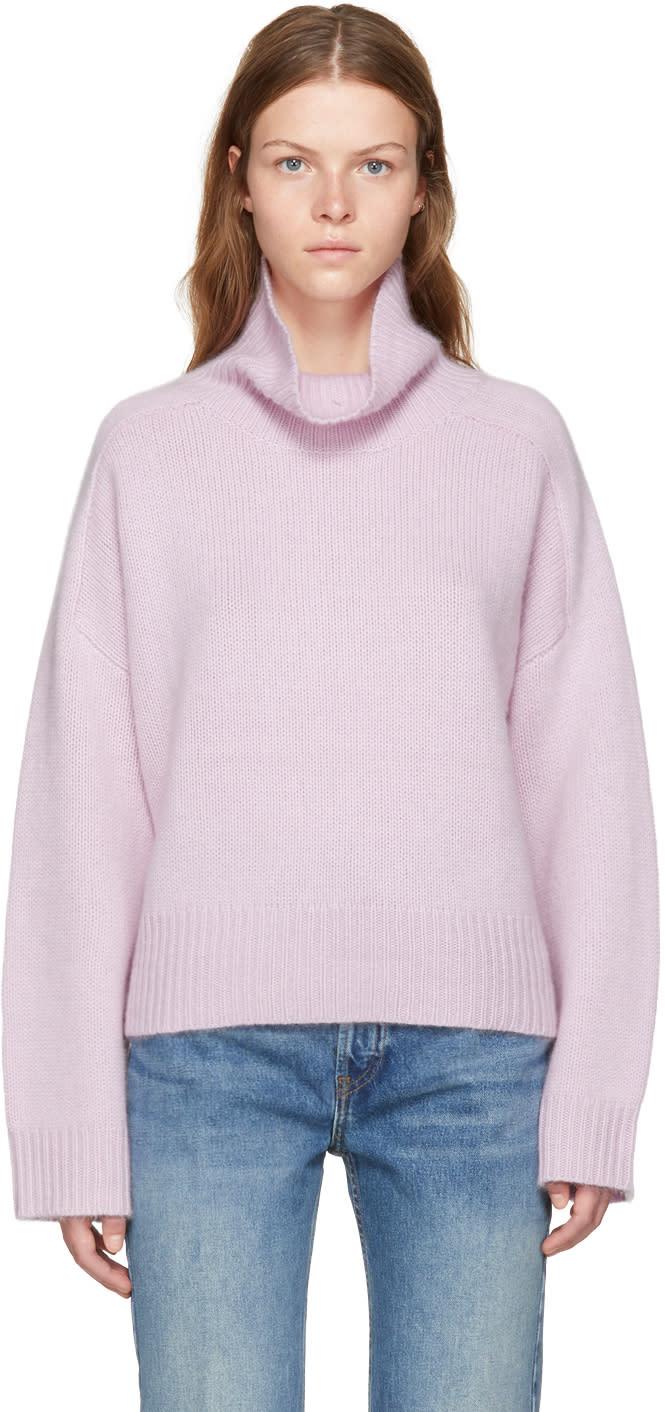 Image of Wendelborn Pink Oversized Cashmere Turtleneck