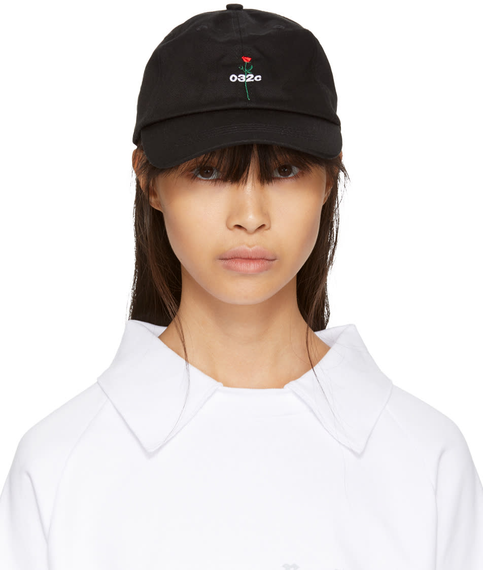 032c female 032c ssense exclusive black rose cap