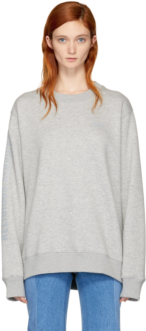 Image of 032c Grey religious Services Sweatshirt