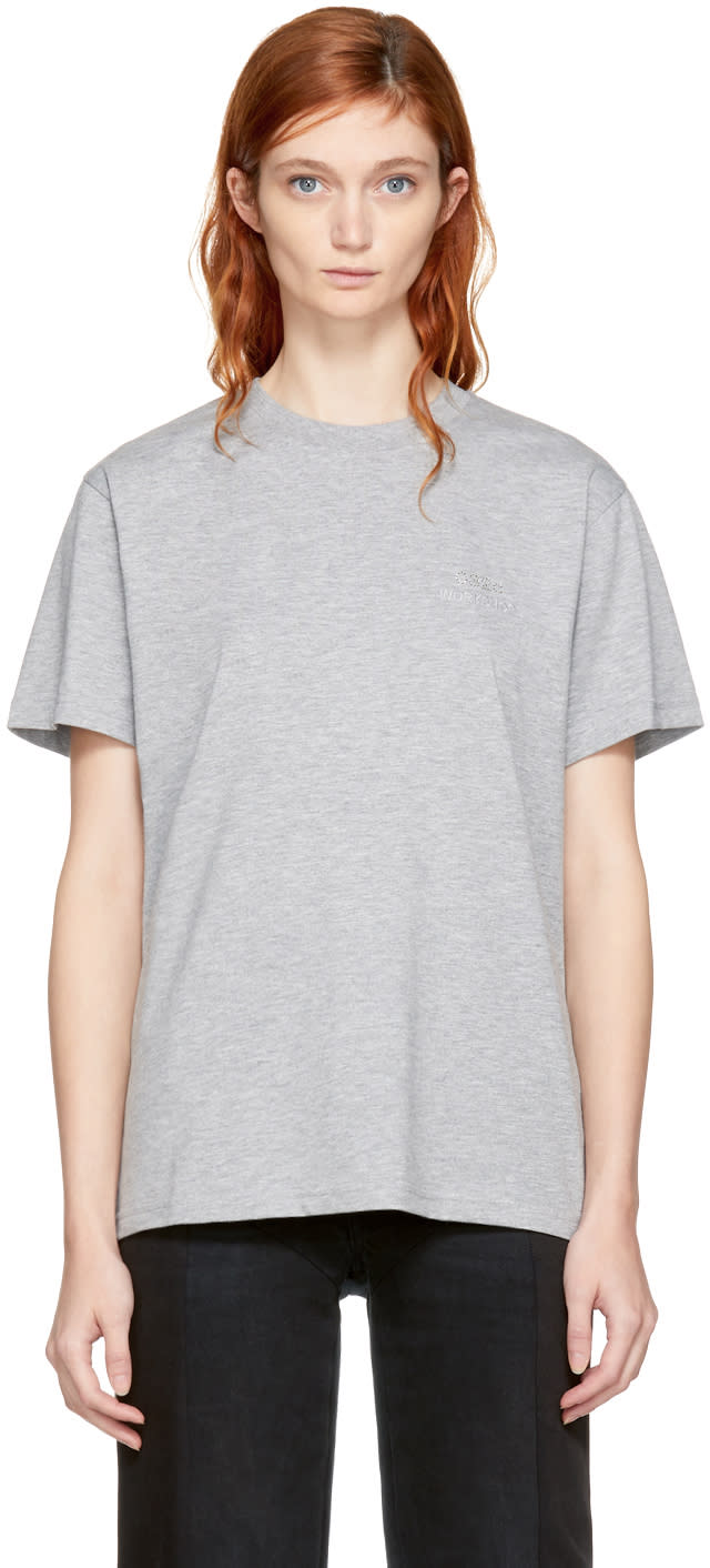 032c Grey Crystal Logo T shirt