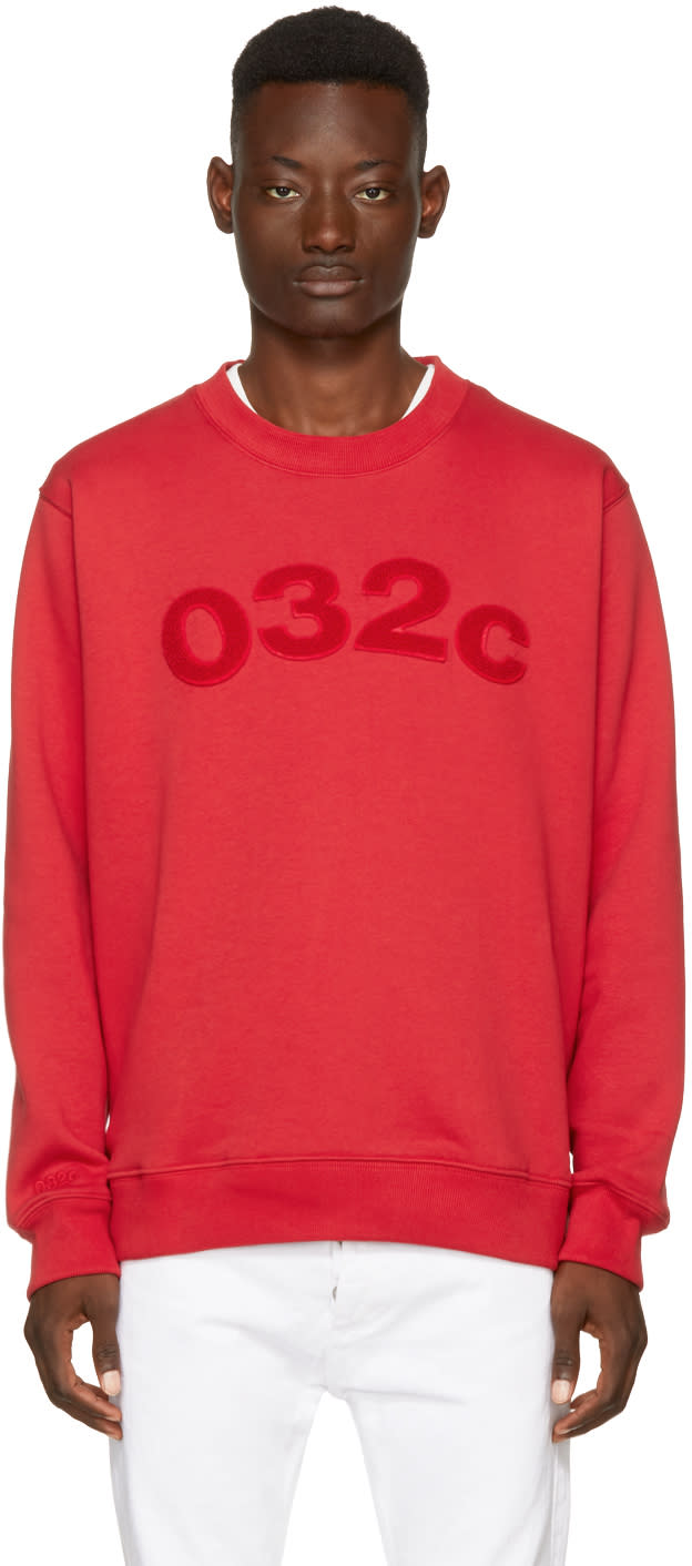 032c Red Believer Logo Sweatshirt