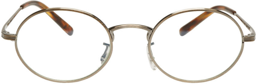 Image of Oliver Peoples The Row Gold Empire Suite Glasses