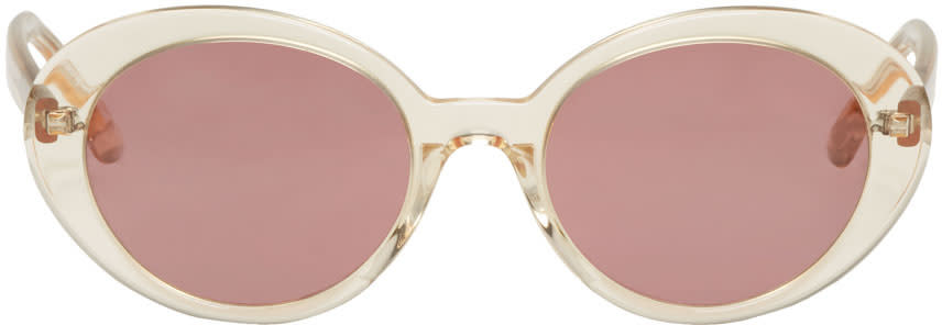 Image of Oliver Peoples The Row Beige Parquet Sunglasses