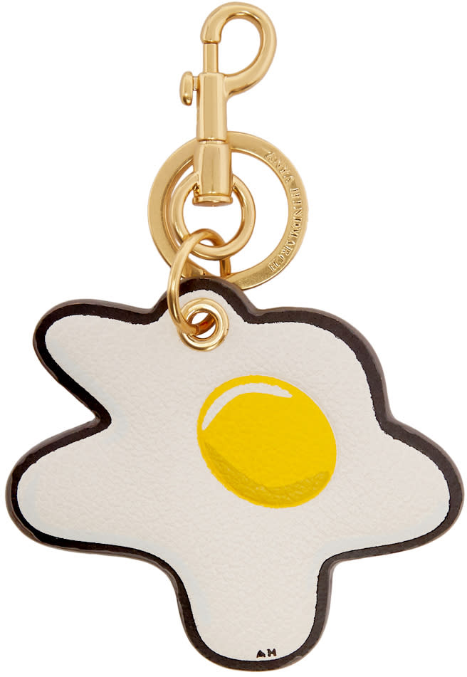 Image of Anya Hindmarch Off-white Egg Keychain