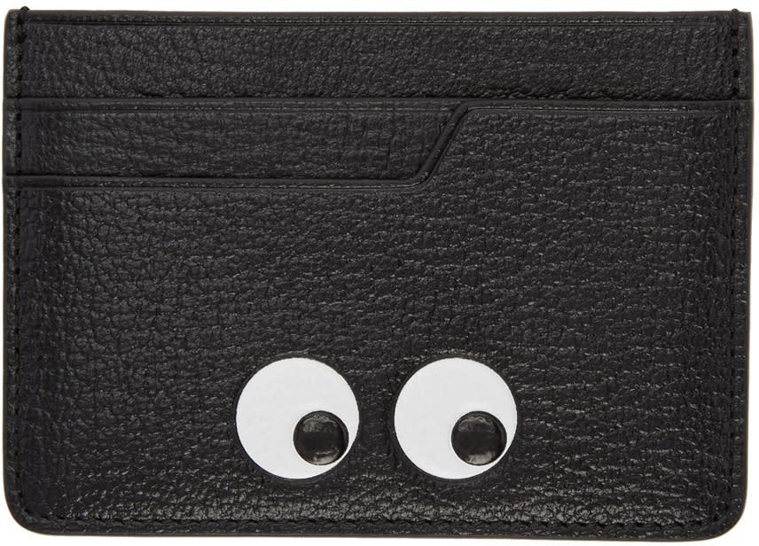 Image of Anya Hindmarch Black Eyes Card Holder