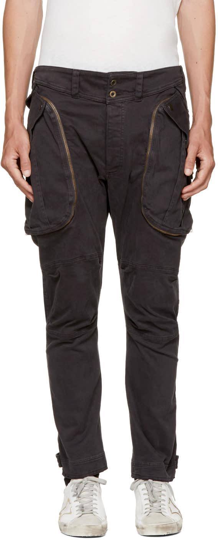 Image of Faith Connexion Black Classic Cargo Trousers