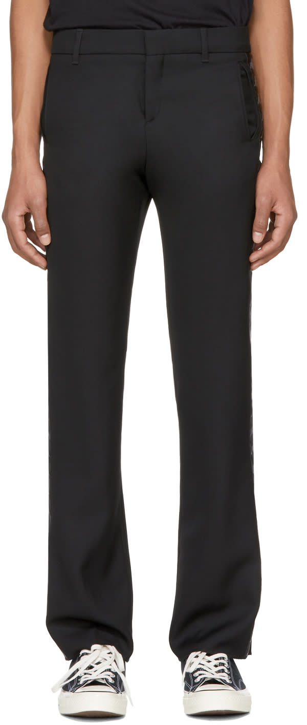 Image of Faith Connexion Black Kappa Edition Wool Trousers