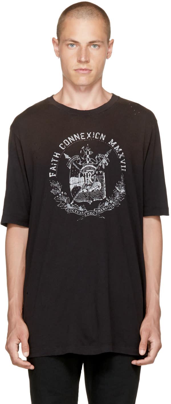 Image of Faith Connexion Black Logo T-shirt