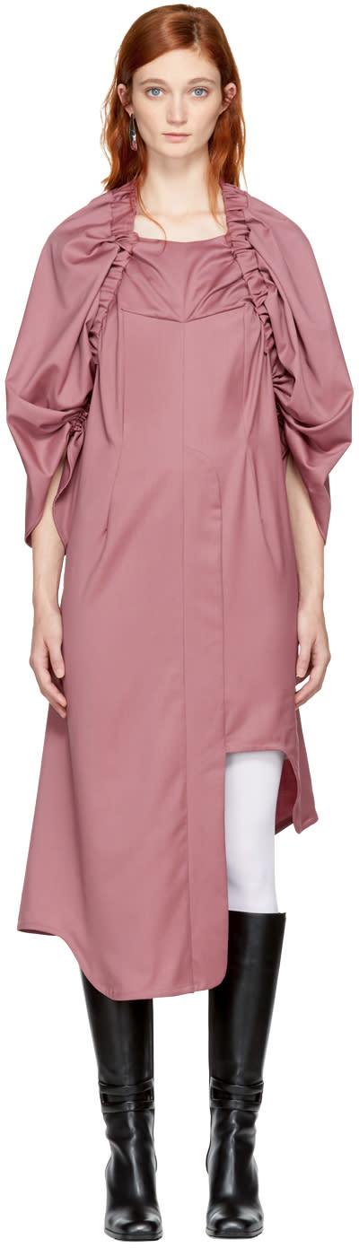 Image of Vejas Pink Elasticized Yoke Dress