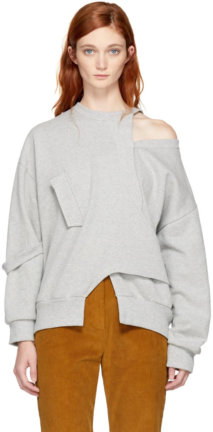 Image of Vejas Grey Seasonal Interlocking Sweatshirt