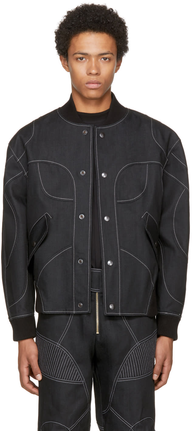 Image of Vejas Ssense Exclusive Black Bomber Jacket