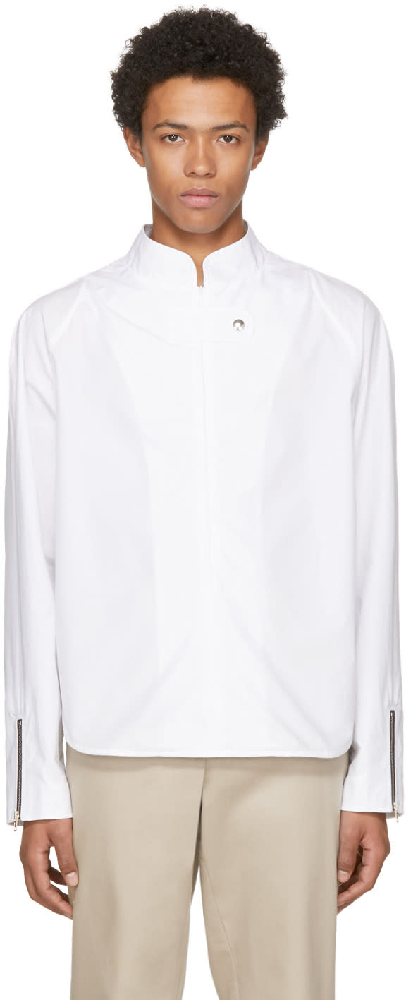 Image of Vejas White Ssense Exclusive Moto Shirt