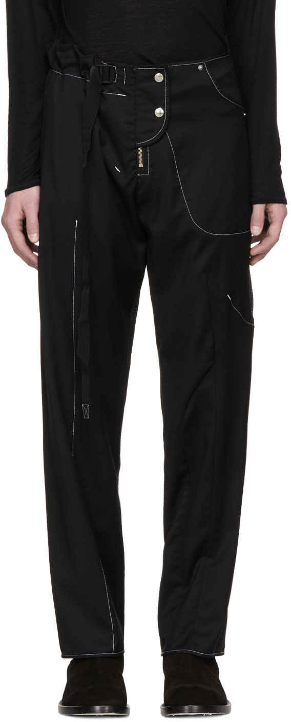 Image of Vejas Ssense Exclusive Black Hybridized Trousers