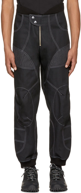 Image of Vejas Ssense Exclusive Black Denim Flight Trousers