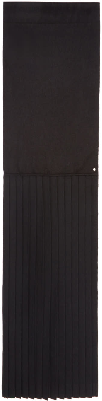 Image of Bless Black Pleated Plisséeedge Scarf