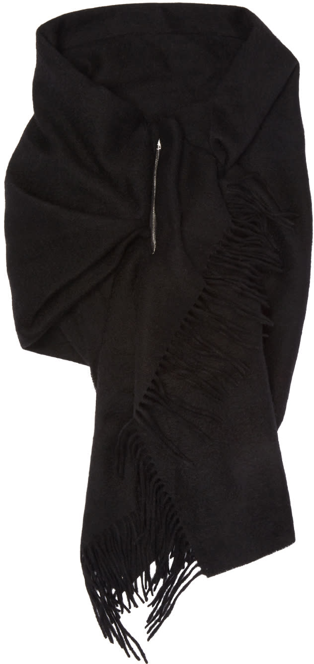 Image of Bless Black Draps Scarf