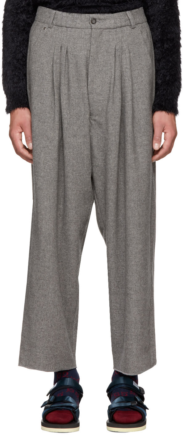 Image of Bless Grey Cashmere Ultrawidepleated Ii Trousers