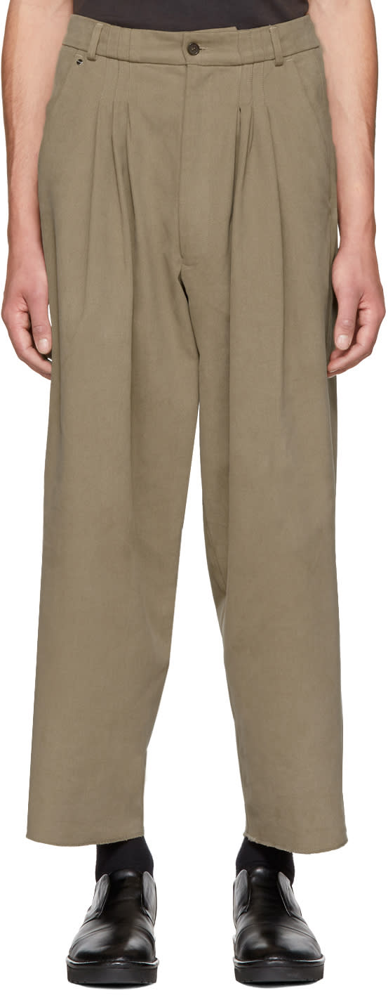 Image of Bless Beige Ultrawidepleated Ii Trousers