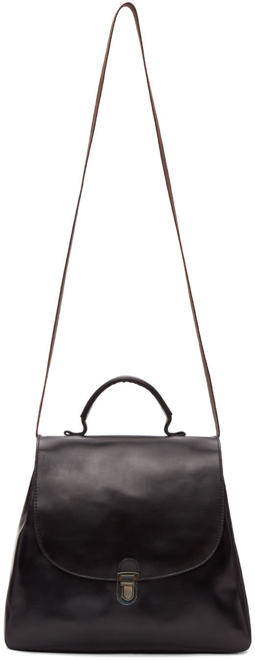 Image of Cherevichkiotvichki Black Flat Small Lock Bag