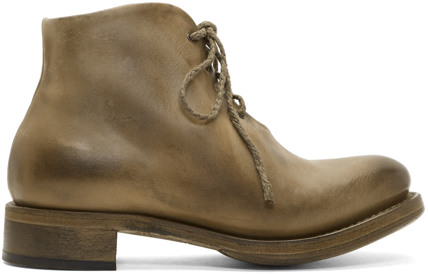 Cherevichkiotvichki Taupe One-piece Goodyear Boots