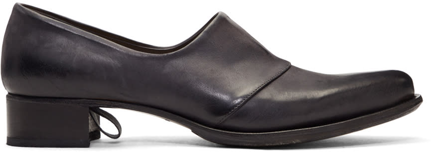 Image of Cherevichkiotvichki Black Two-piece Blake Loafers