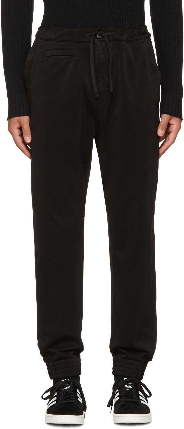 Image of Stone Island Shadow Project Black Tapered Trousers