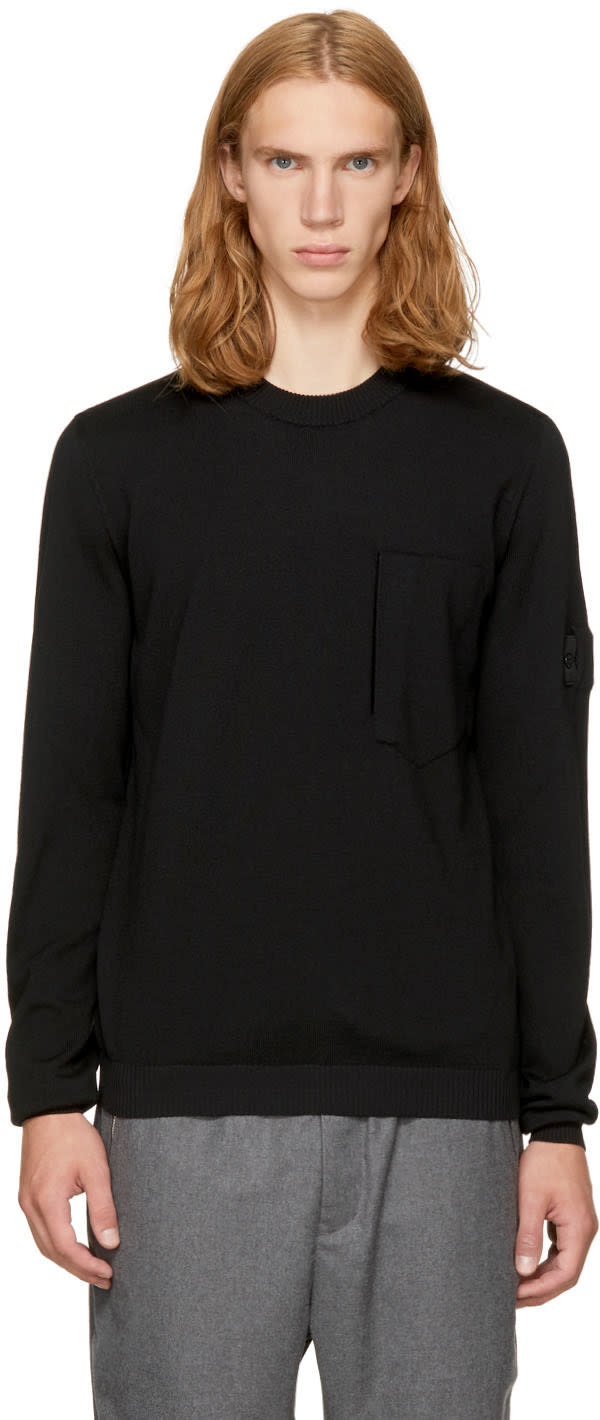 Image of Stone Island Shadow Project Black Classic Crewneck Sweater