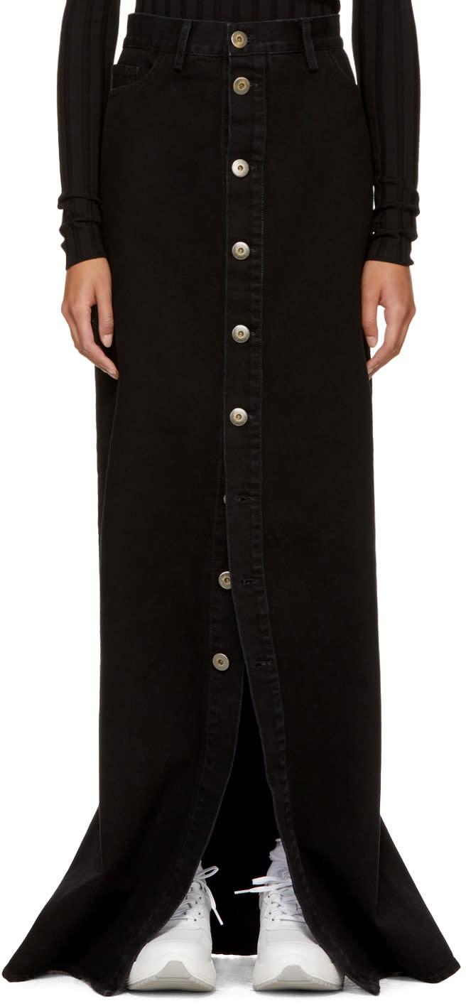 Image of Matthew Adams Dolan Ssense Exclusive Black Denim Skirt