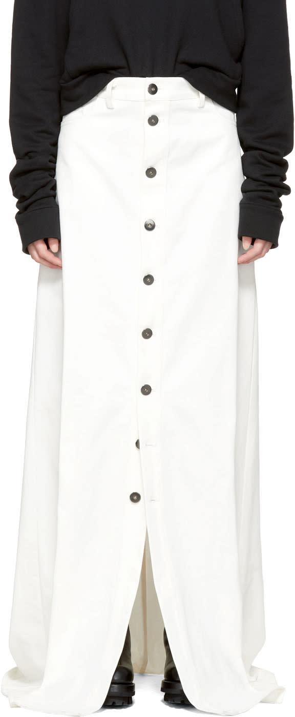 Image of Matthew Adams Dolan Ssense Exclusive White Denim Skirt