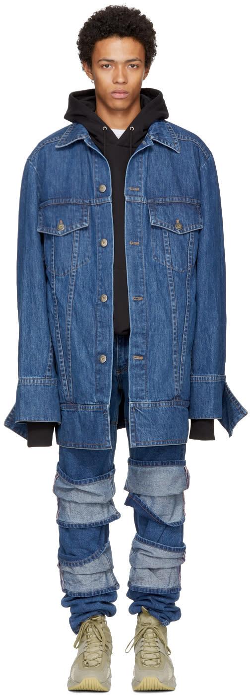Image of Matthew Adams Dolan Indigo Denim Falling Cuff Jacket