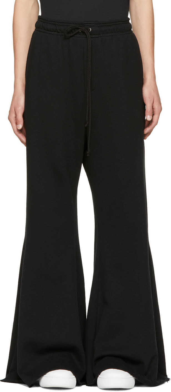 Image of Matthew Adams Dolan Black Split Hem Lounge Pants