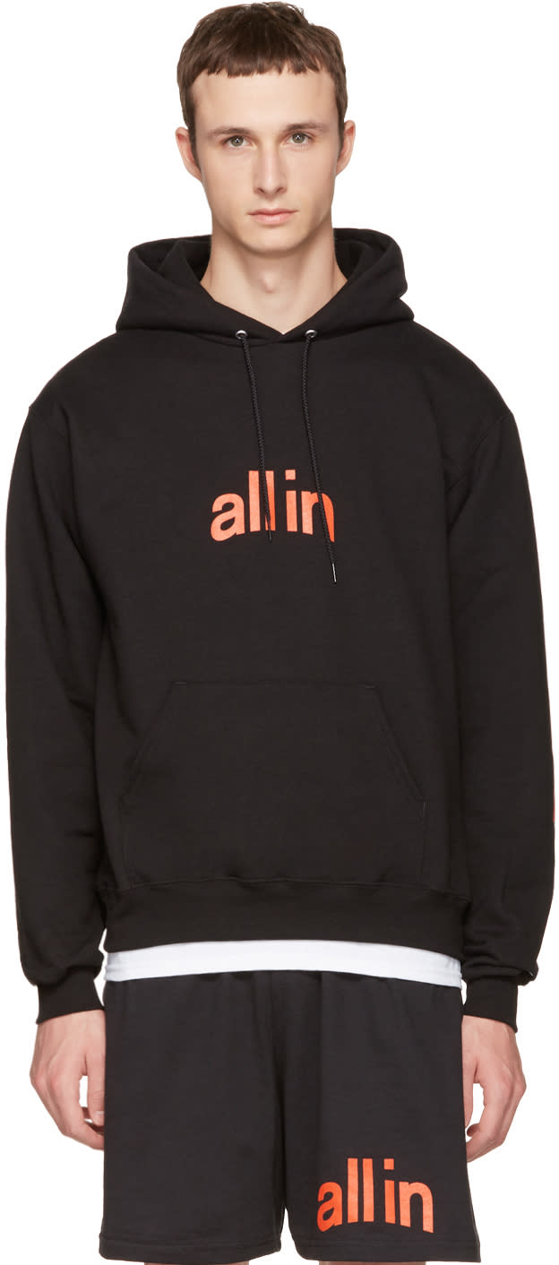 Image of All In Black Champion Edition Logo Hoodie