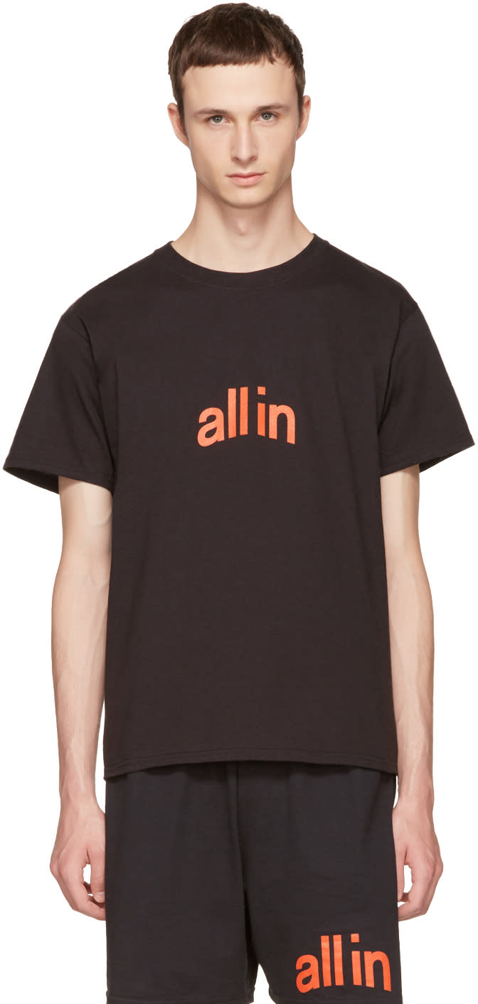 Image of All In Black Champion Edition Logo T-shirt
