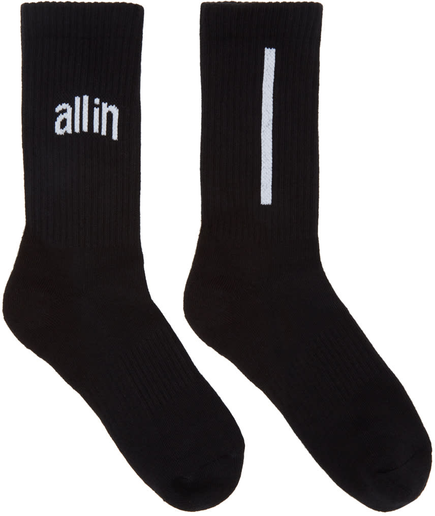 Image of All In Black Logo Socks