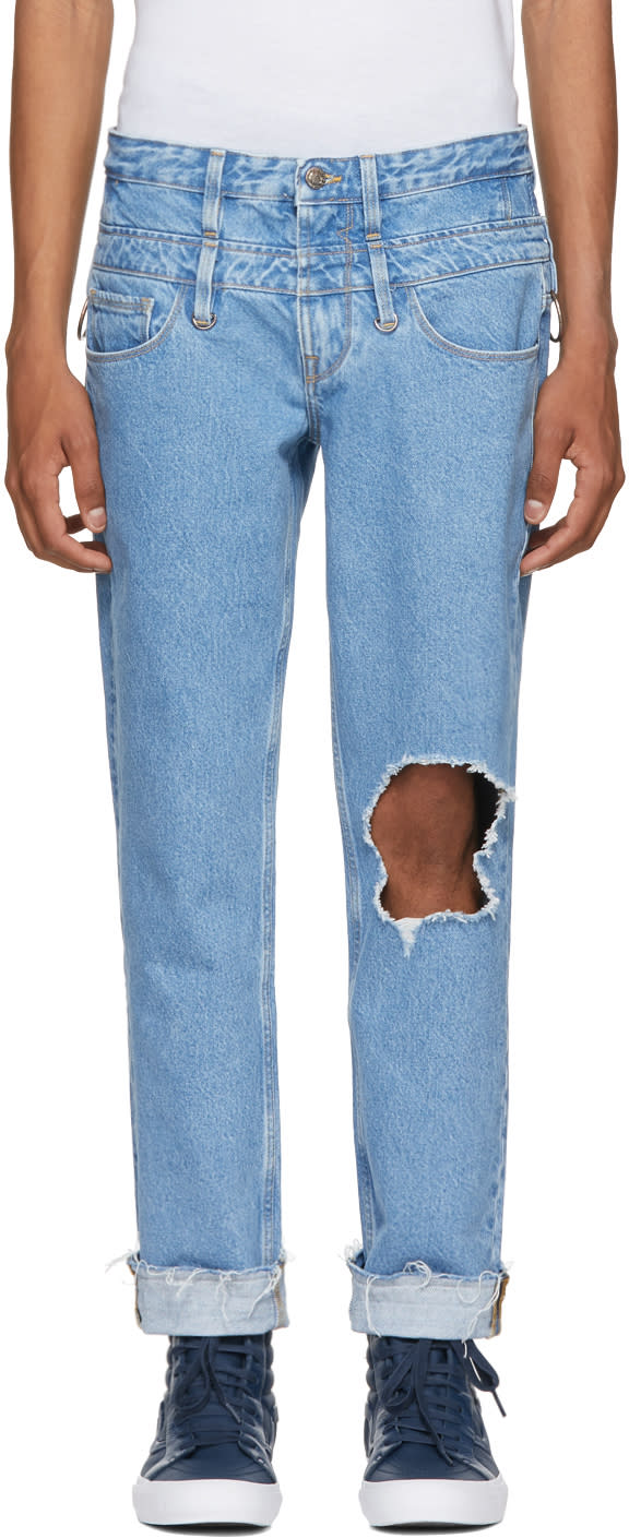 Image of Midnight Studios Indigo Guess Edition Slim Tapered Jeans