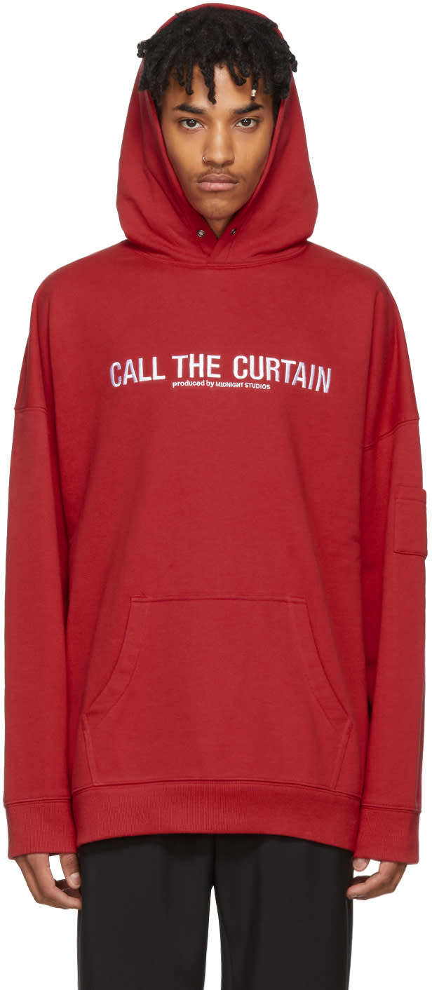 Image of Midnight Studios Red call The Curtain Hoodie