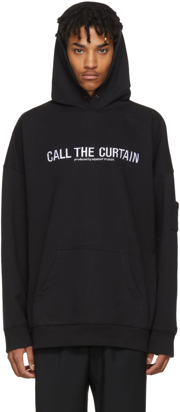 Image of Midnight Studios Black call The Curtain Hoodie