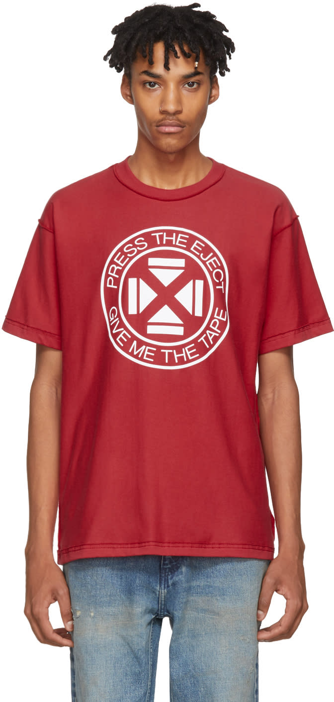 Image of Midnight Studios Red press The Eject T-shirt