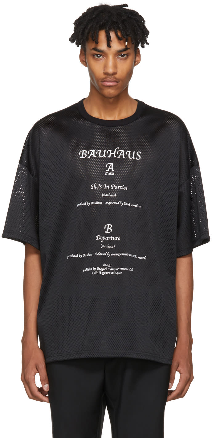 Image of Midnight Studios Black Mesh shes In Parties T-shirt