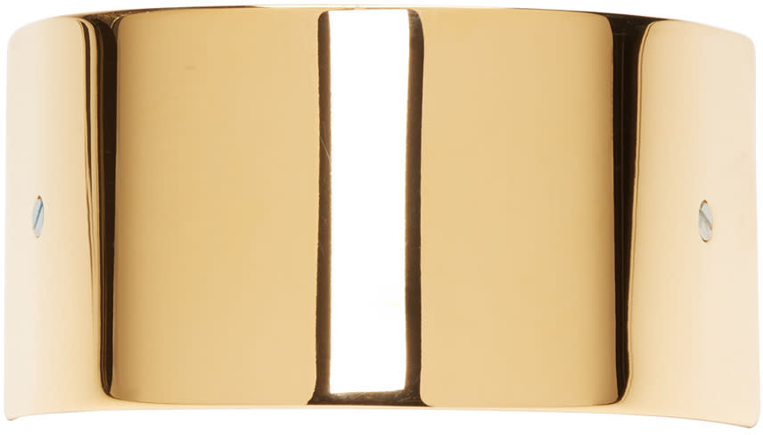 Image of Sylvain Le Hen Gold Wide Half Circle 047 Barrette