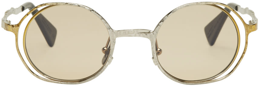 Image of Kuboraum Gold and Silver Maske H11 Sunglasses