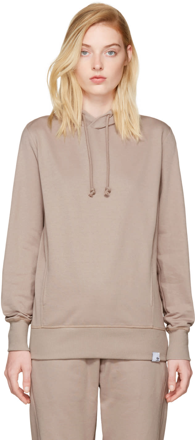 Image of Adidas Originals Xbyo Taupe Pullover Hoodie