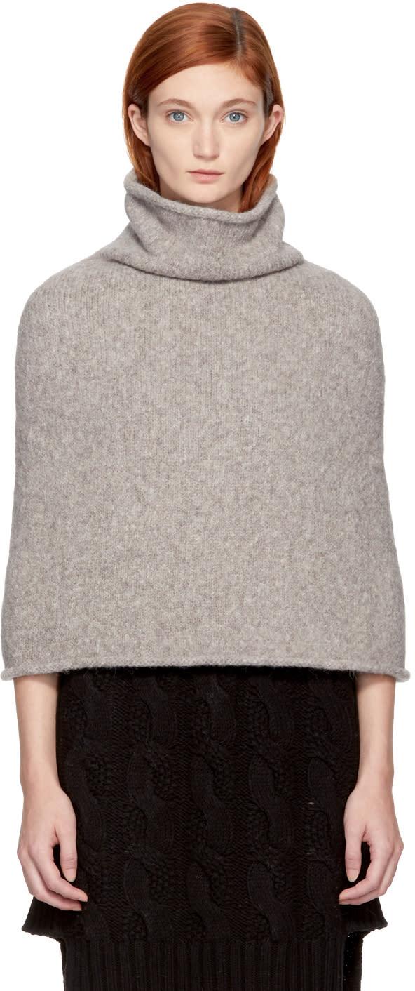 Image of Lauren Manoogian Grey Sleeveless Turtleneck