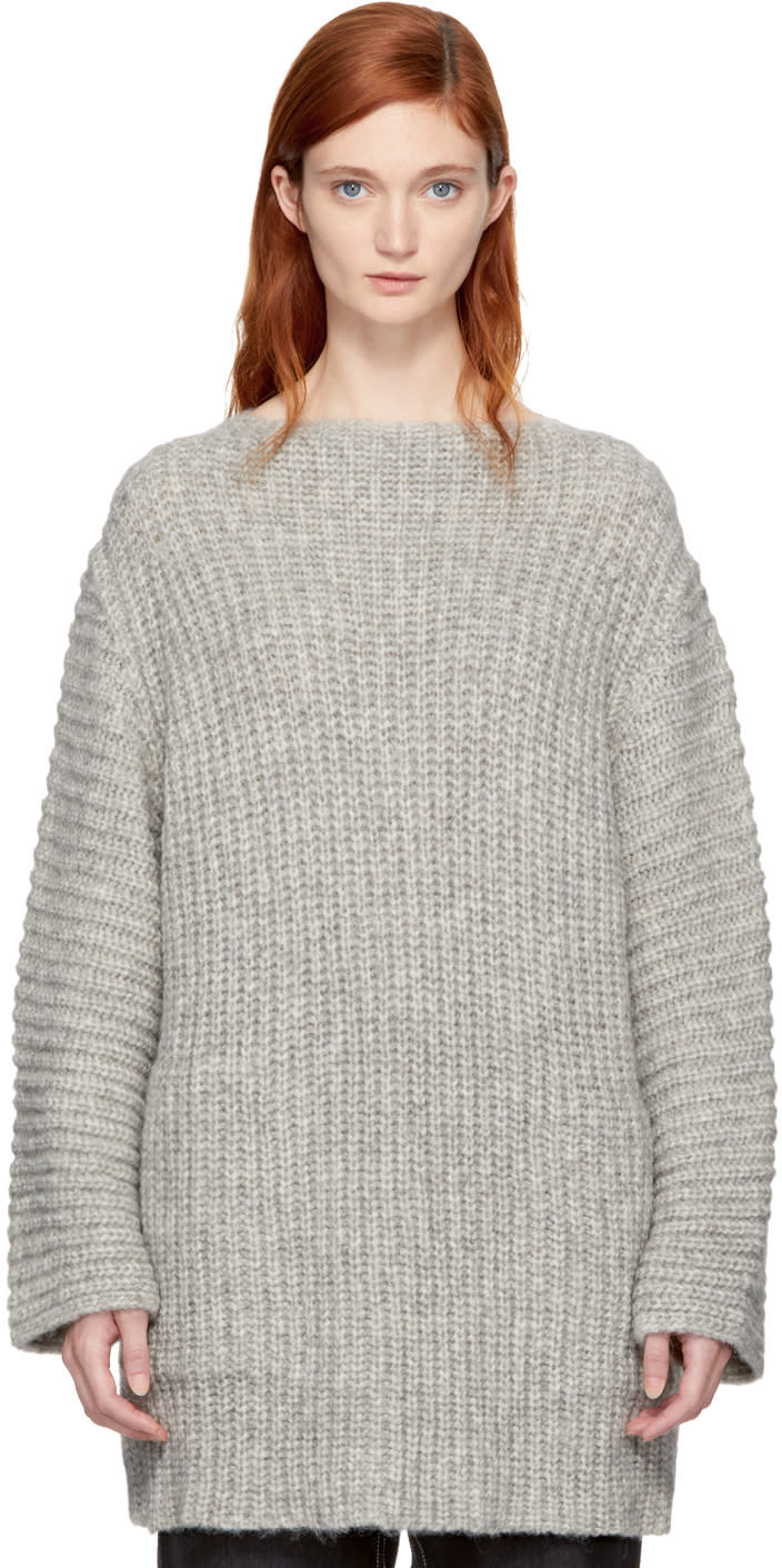 Image of Lauren Manoogian Grey Fisherman Tunic Sweater