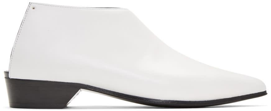 Image of Alumnae White Mule Boots