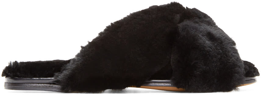 Image of Alumnae Black Fur Turban Slides