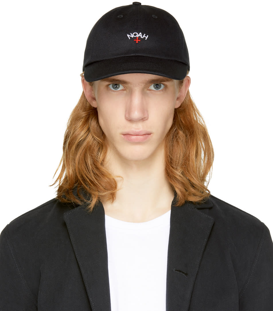 Image of Noah Nyc Black Core Logo Six-panel Cap