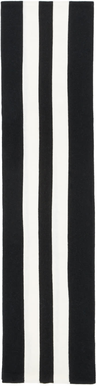 Image of Noah Nyc Black Striped Cambridge Scarf