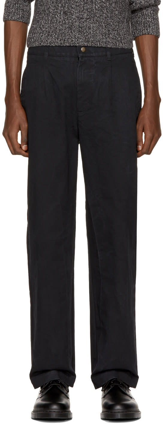 Image of Noah Nyc Black Single Pleat Chinos