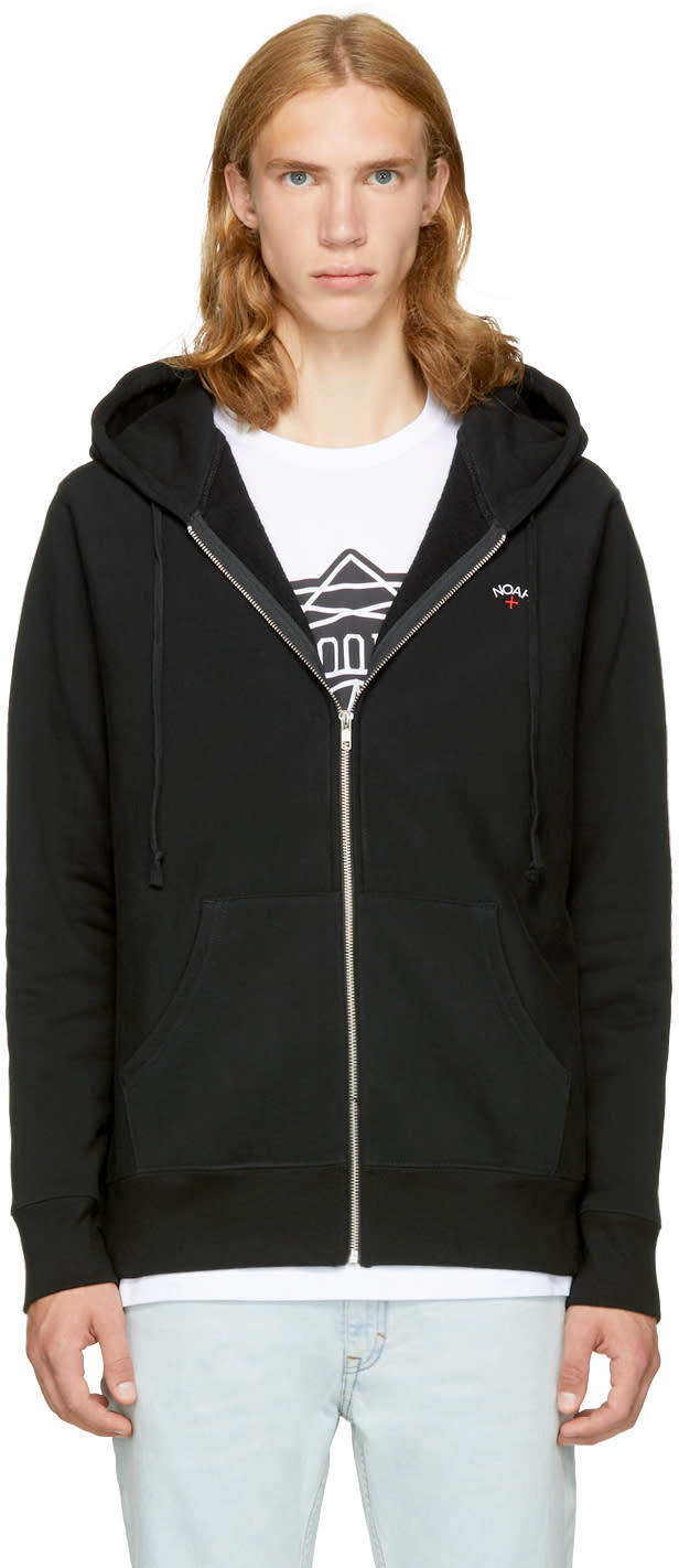 Image of Noah Nyc Black Logo Zip Hoodie